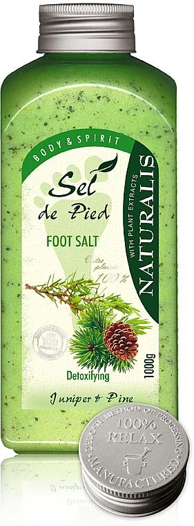 Sal de baño con propiedades antisépticas enriquecida con enebro y pino - Naturalis Sel de Pied Juniper And Pine Foot Salt