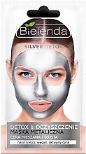 Perfumería y cosmética Mascarilla facial con nanopartículas metálicas, carbon negro y zinc - Bielenda Silver Detox Metallic Mask