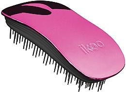 Perfumería y cosmética Cepillo vegano desenredante para cabello, rosa-negro - Ikoo Home Cherry Metallic Brush
