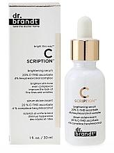 Perfumería y cosmética Sérum facial iluminador con extracto de plancton - Dr. Brandt Bright This Way C Scription Brightening Serum