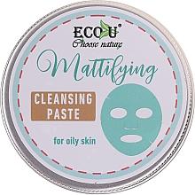Perfumería y cosmética Pasta facial limpiadora con aceite de menta y extracto de romero - ECO U Mattifying Cleansing Paste For Oily Skin
