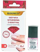 Perfumería y cosmética Esmalte de uñas con vitaminas y queratina - Kosmed Colagen Nail Protection 10in1