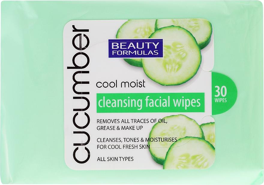 Toallitas desmaquillantes con extracto de pepino - Beauty Formulas Cucumber Cleansing Facial Wipes