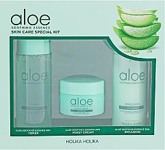 Perfumería y cosmética Set facial - Holika Holika Aloe (tónico/50ml + emulsión/50ml + crema/20ml)