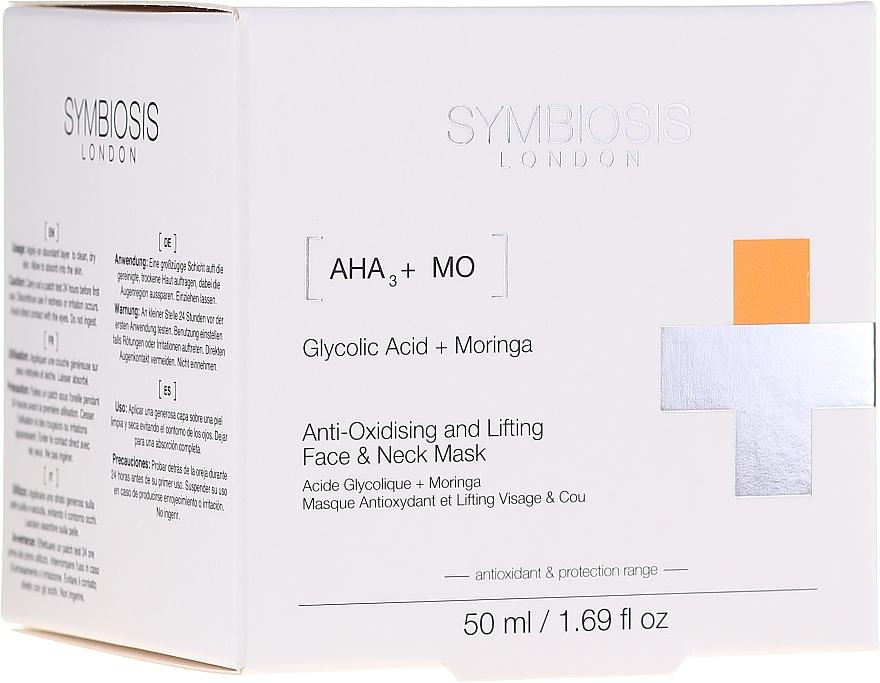 Mascarilla antioxidante y reafirmante para rostro y cuello con ácido glicólico y moringa - Symbiosis London Anti-oxidising And Lifting Face & Neck Mask