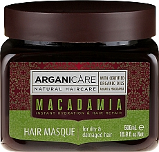 Perfumería y cosmética Mascarilla capilar con aceite de argán & macadamia - Arganicare Silk Macadamia Hair Mask