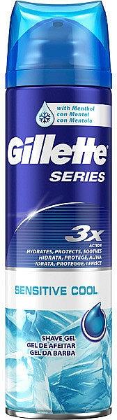 Gel de afeitar con efecto refrescante con mentol - Gillette Series Sensitive Cool Shave Gel