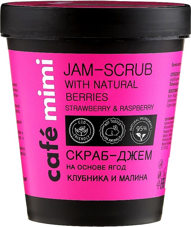 Exfoliante corporal con polvo natural de fresa y frambuesa - Cafe Mimi Jam-Scrub With Natural Berries
