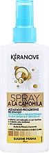 Perfumería y cosmética Spray aclarante iluminador de cabello con camomila sin aclarado - Eugene Perma Keranove Spray A La Camomila