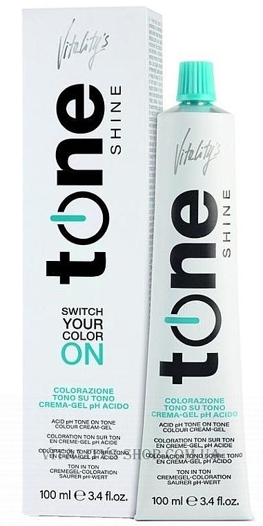 Coloración tono sobre tono en crema-gel pH ácido - Vitality's Tone Shine
