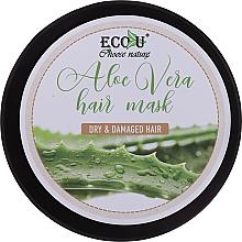 Perfumería y cosmética Mascarilla capilar reparadora con jugo de aloe vera y aceite de aguacate - Eco U Aloe Mask