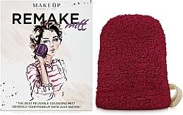 """Perfumería y cosmética Guante desmaquillante, borgoña """"ReMake"""" - MakeUp"""