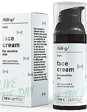 Perfumería y cosmética Crema de día natural con extractos de camomila y caléndula - Kili·g Man Day Cream