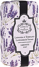Perfumería y cosmética Jabón natural artesanal con aroma a lavanda y tomillo - Essencias De Portugal Natura Lavander&Thyme Soap