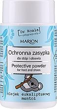 Perfumería y cosmética Polvo para pies y zapatos con aceite de eucalipto y mentol - Marion Dr Koala Protective Powder