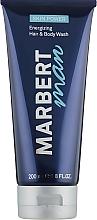 Perfumería y cosmética Gel de ducha energizante para hombres para cabello y cuerpo - Marbert Man Skin Power Hair & Body Wash