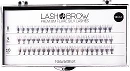 Perfumería y cosmética Pestañas postizas individuales - Lash Brown Premium Flare Silk Lashes Natural Short