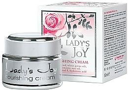 Perfumería y cosmética Crema facial nutritiva con aceite natural de rosa - Bulgarian Rose Lady's Joy Nourishing Face Cream