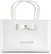 Perfumería y cosmética Bolso con lazo, blanco (24x15,5cm) - MakeUp White elegance