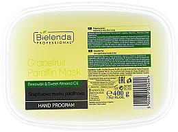 Perfumería y cosmética Mascarilla para pies y manos con cera de abeja y aceite de almendras - Bielenda Professional Grapefruit Paraffin Mask Beeswax & Almond Oil