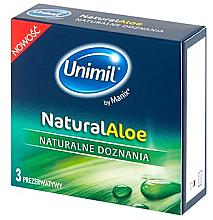 Perfumería y cosmética Preservativos con agua de aloe vera, 3uds. - Unimil Natural Aloe