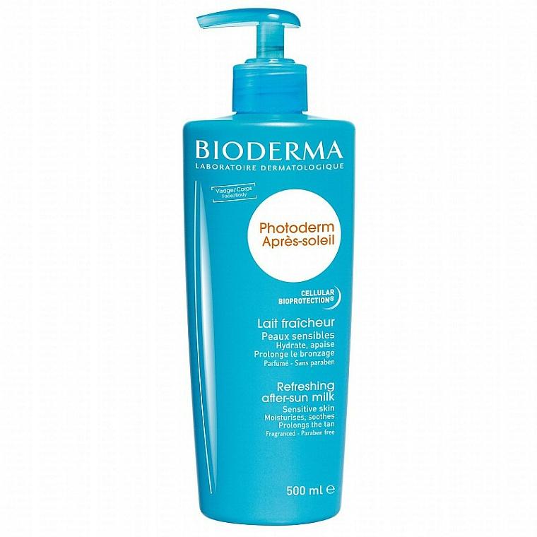 Leche corporal aftersun con extracto ginkgo biloba para pieles sensibles - Bioderma Photoderm Apres-soleil Refreshing After-sun Milk
