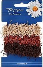 Perfumería y cosmética Gomas de pelo marrones 3 uds. - Top Choice