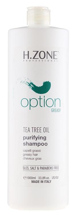 Champú purificante con aceite de árbol de té - H.Zone Option — imagen N1