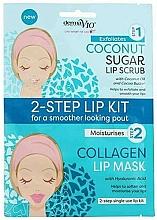 Perfumería y cosmética Exfoliante y mascarilla labial con aceite de coco - Derma V10 2 Step Lip Treatment Kit Coconut