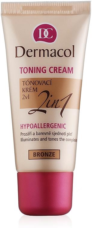 Crema hidratante y base de maquillaje 2en1 - Dermacol Make-Up Toning Cream