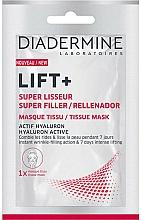 Perfumería y cosmética Mascarilla facial rellenadora de arrugas y reafirmante con ácido hialurónico - Diadermine Lift+ Super Filler Tissue Mask