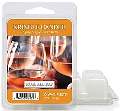 Perfumería y cosmética Cera para lámpara aromática con fragancia a vino rosado - Kringle Candle Rose All Day Wax Melts