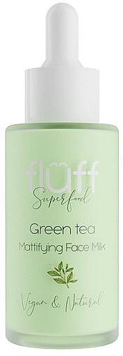 Leche facial matificante con extracto de té verde y aceite de jojoba - Fluff Green Tea Mattifying Face Milk