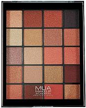Perfumería y cosmética Paleta de sombras de ojos, 20 colores - MUA 20 Shade Eyeshadow Palette