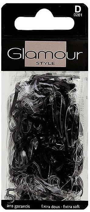Gomas de pelo de silicona, 0261, negras - Glamour