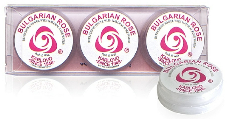 Set toallitas refrescantes 3 uds. - Bulgarian Rose Refreshing Towel With Natural Rose Water