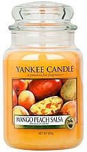 Perfumería y cosmética Vela aromática en tarro, melocotón y mango - Yankee Candle Mango Peach Salsa