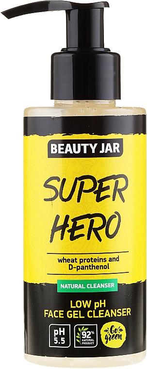 Gel de limpieza facial natural con proteínas de trigo y D-pantenol - Beauty Jar Low Ph Face Gel Cleanser
