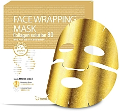 Perfumería y cosmética Mascarilla facial de celulosa de doble capa con colágeno marino y extracto de centella asiática - Berrisom Face Wrapping Mask Collagen Solution
