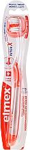 Perfumería y cosmética Cepillo de dientes, blando, transparente con naranja - Elmex Toothbrush Caries Protection InterX Soft Short Head