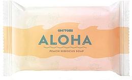 Perfumería y cosmética Jabón natural artesano con aroma a melocotón - Oh!Tomi Aloha Peach Hibiscus Soap