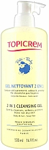 Perfumería y cosmética Gel para cabello y cuerpo con jugo de aloe vera - Topicrem Soins Bebe Bio Gel Nettoyant