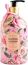 Perfumería y cosmética Jabón de manos líquido con aroma a rosa fresca - IDC Institute Scented Garden Hand Wash Country Rose