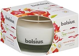 Perfumería y cosmética Vela aromática en tarro, pomelo y jengibre 50/80 mm - Bolsius True Moods Candle