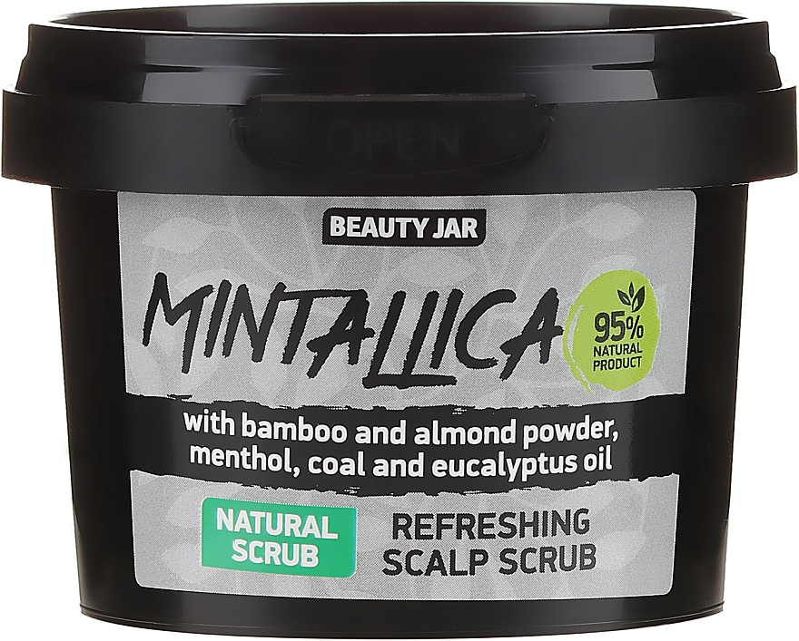 Exfoliante refrescante para cuero cabelludo con polvo de bambú & almendra - Beauty Jar Mintallica Refreshing Scalp Scrub