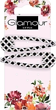 Perfumería y cosmética Pinzas de pelo, negro y blanco - Glamour, 417674