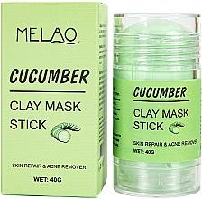 Perfumería y cosmética Mascarilla stick facial antiacné con arcilla y extracto de pepino - Melao Cucumber Clay Mask Stick