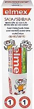Perfumería y cosmética Set infantil para el cuidado de dientes - Elmex Kids (pasta dental /50ml + cepillo/1 ud. + vaso/1 ud.)