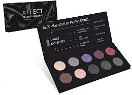 Perfumería y cosmética Paleta de sombras de ojos - Affect Cosmetics Smoky And Shiny Eyeshadow Palette