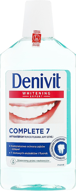 Enjuague bucal antibacteriano - Denivit Whitening Expert Complete 7 Mouthwash